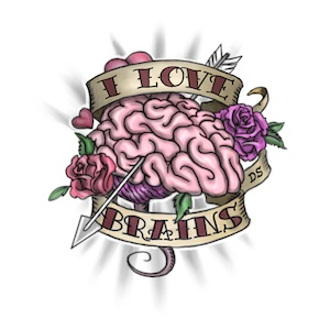 I Love Brains tattoo