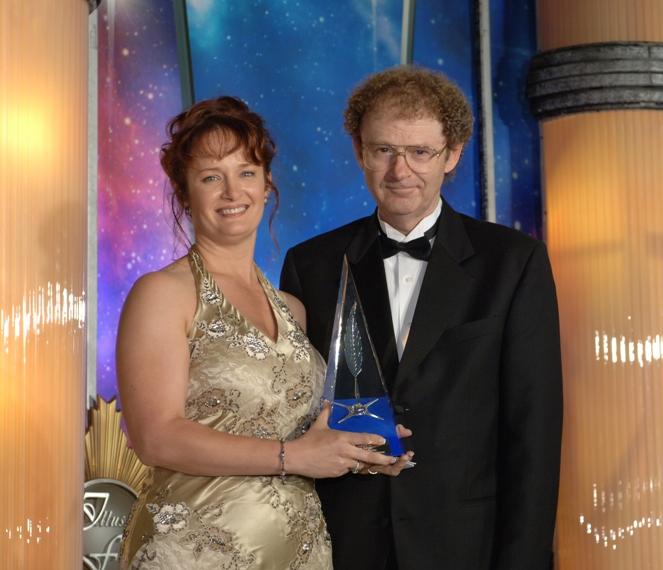 Brian Herbert gives me my award