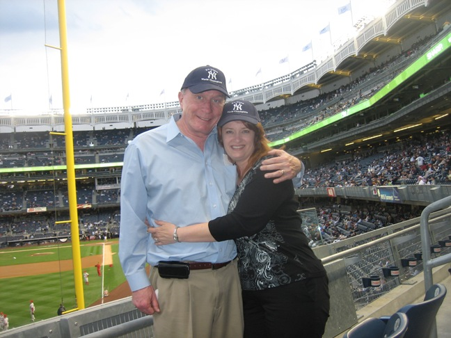 Jack and Diana at the Yankees game
