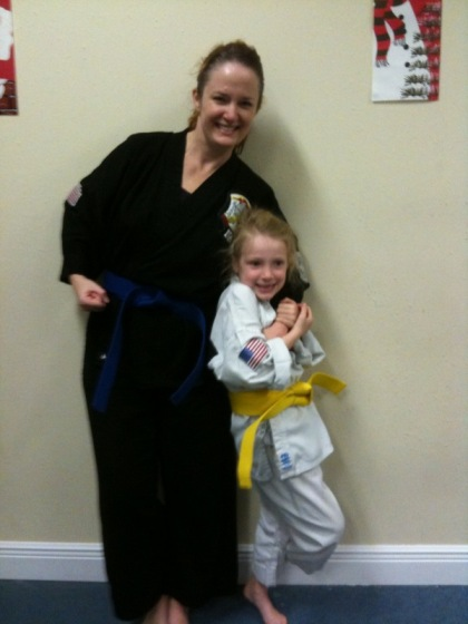 Diana and The Kid with our new belts
