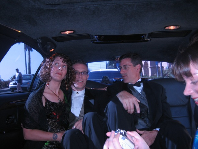 Ten people in a limo