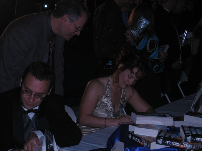Signing after the ceremony