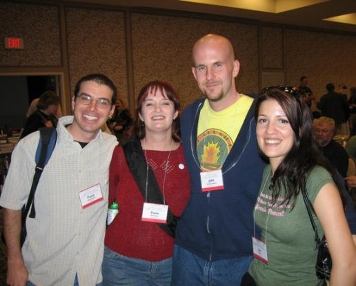 Paolo Bacigalupi, Me, John Joseph Adams, and Jae Brim